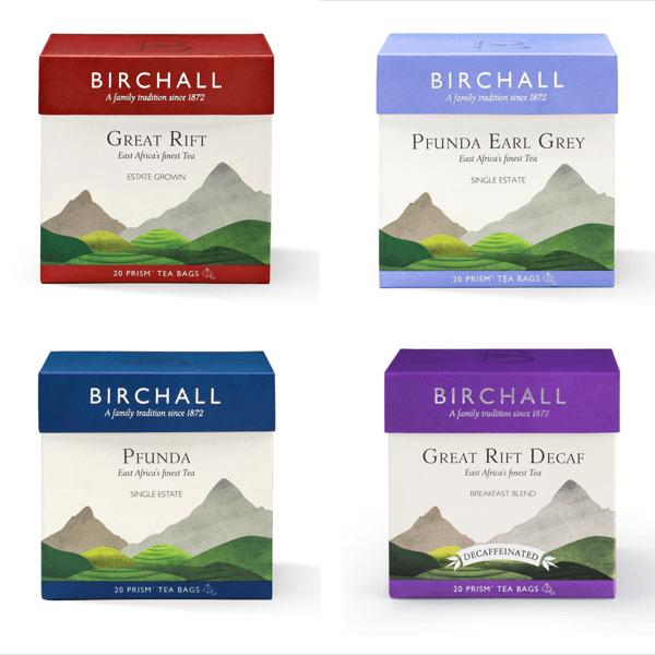 Birchall, tea brand launch, Tea branding, Birchall Darjeeling Tea, Luxury brand packaging, Tea brand narrative, tea brand story, Tea brand graphics, premium brand creation , great rift tea, Pfunda tea