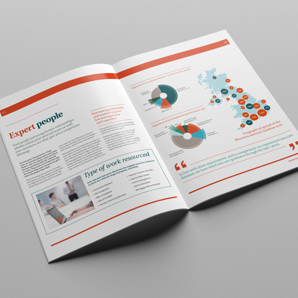 Momenta, Interim Resourcing, Corporate Brochure, B2B brochure, Sales brochure, sales collateral, Introducer Pack, Resourcing, Huntswood, B2B Marketing, B2B Design