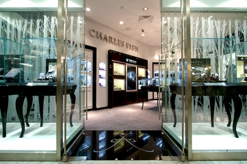 Charles Fish jewellery shop, Cabot Sqaure.